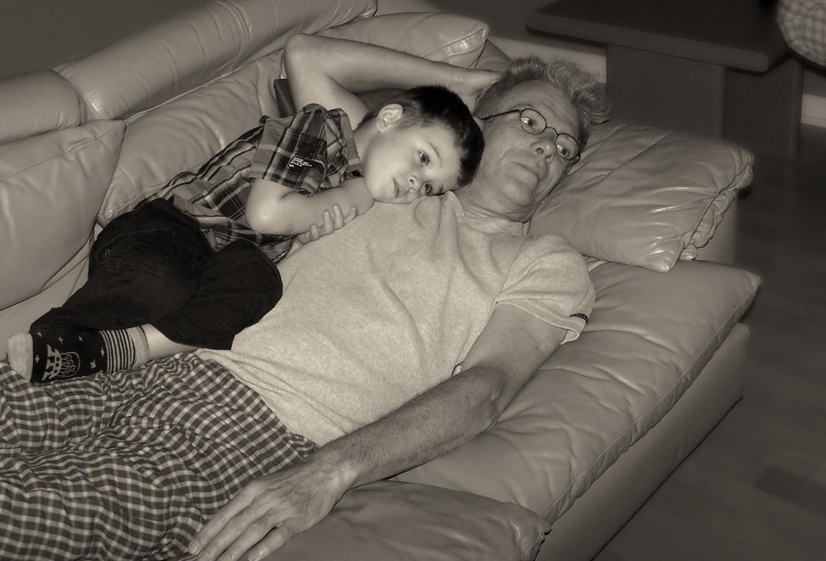 matis et grand-papa