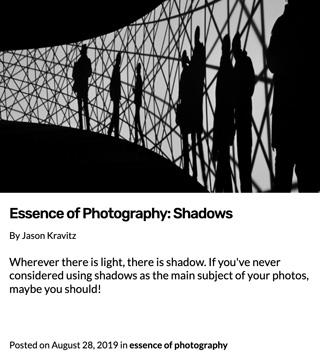 L'essence de la photographie | Les ombres