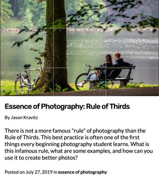L'essence de la photographie | La règle des tiers
